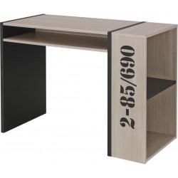 Bureau moderne chêne clair/noir Hermine