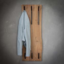 Portemanteau vintage en bois massif 2 x 3 crochets Albert