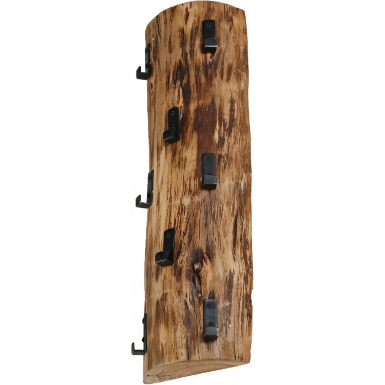 Portemanteau vintage en bois massif 8 crochets Daryl