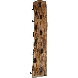 Portemanteau vintage en bois massif 14 crochets Daryl