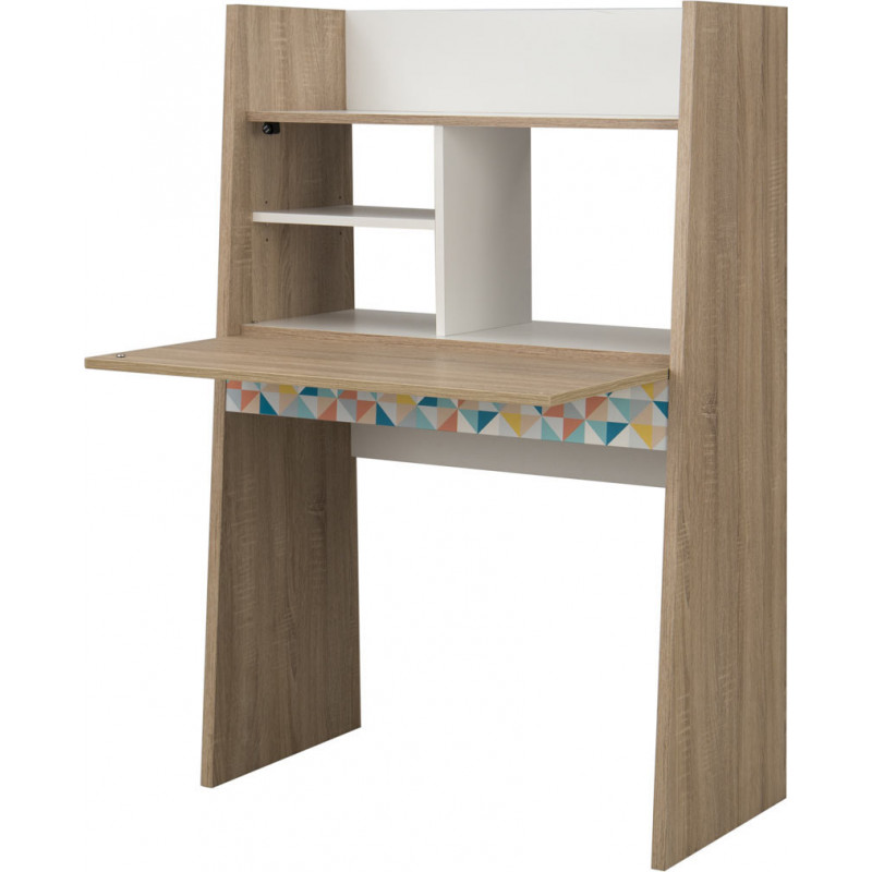 bureau secr taire scandinave ch ne clair blanc johana. Black Bedroom Furniture Sets. Home Design Ideas
