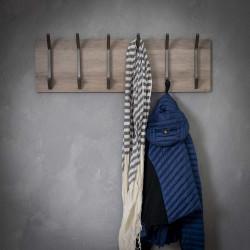 Porte-manteau vintage en MDF 6 crochets Yelena