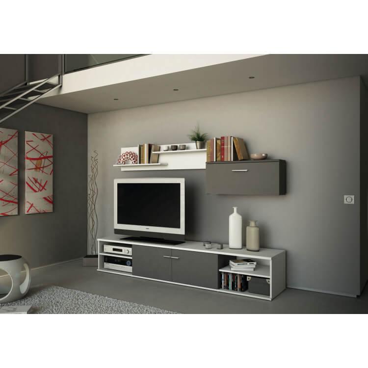 Banc TV et rangement mural design ZEN