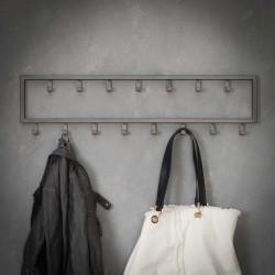 Porte-manteau industriel en métal 15 crochets Alexandria