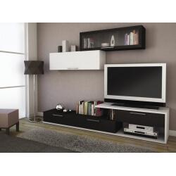 Banc TV avec 2 colonnes murales design NIKOS