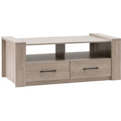 Table basse contemporaine chêne clair Shangai