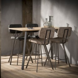 Table de bar contemporaine en MDF Concordia
