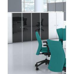 Armoire de bureau contemporaine hauteur 121 cm Opaline II