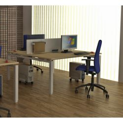 Bureau bench contemporain 2 personnes Zelda
