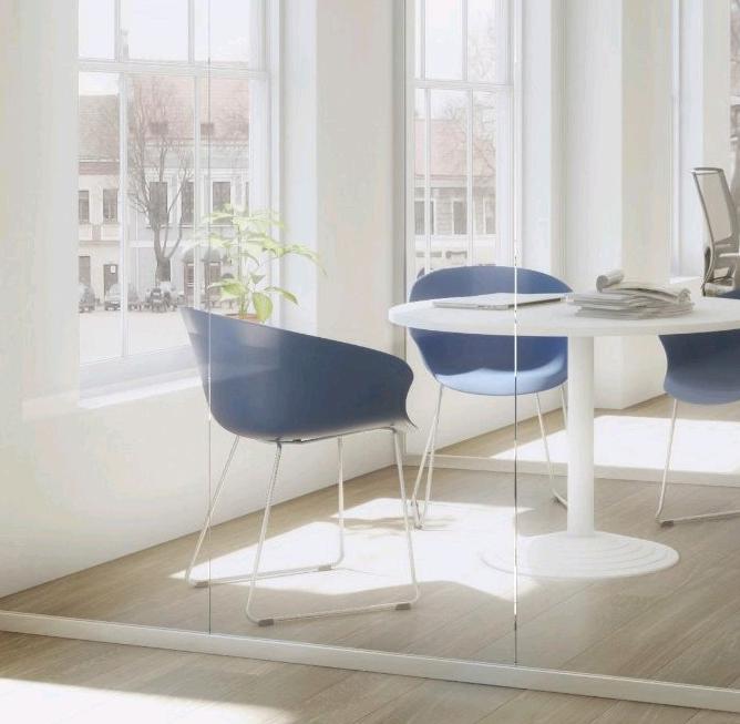 Chaise d'accueil design PVC (lot de 4) Ostende