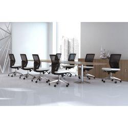 Chaise de bureau contemporaine en tissu vert Hawai