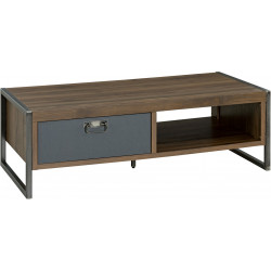 Table basse industrielle noyer/gris Jaipur