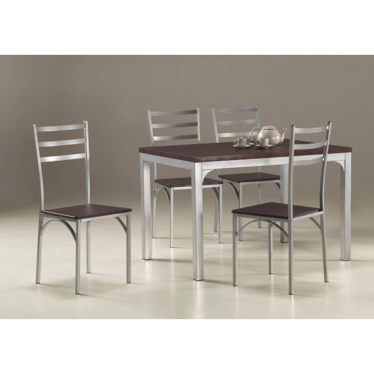 Ensemble table de cuisine et 4 chaises LOIRE
