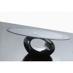 Table basse en verre TUNNEL