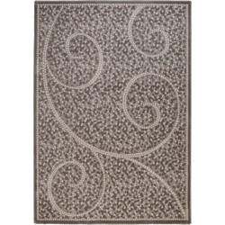 Tapis rectangle contemporain à courtes mèches Peri