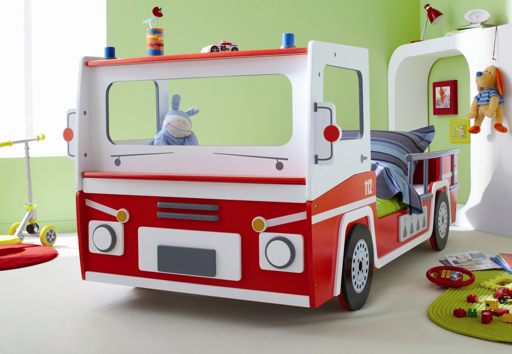 Lit enfant voiture POMPIER SOS