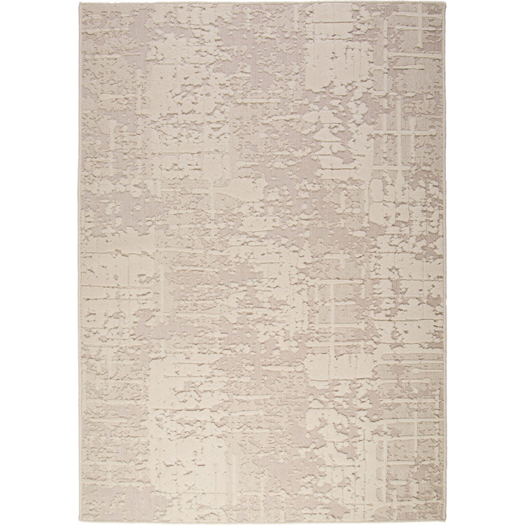 Tapis rayé en laine effet 3D rectangle Amalia