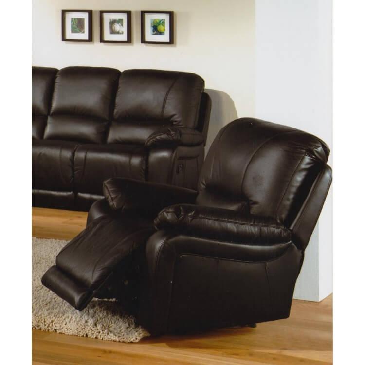 Fauteuil de relaxation électrique cuir avec repose-pieds intégré SICILE