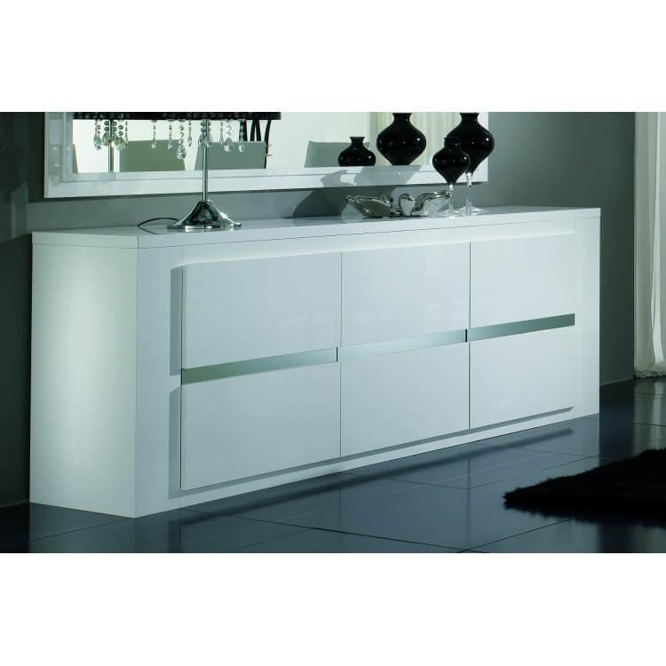 Buffet/bahut design 3 portes laqué blanc Diva