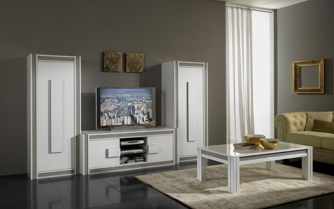 Meuble TV pour écran plasma & 2 colonnes NOCCE