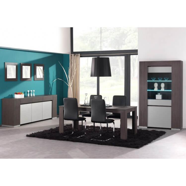 Salle à manger complète contemporaine coloris linéa (MEUBLE TV OFFERT) Eclipse
