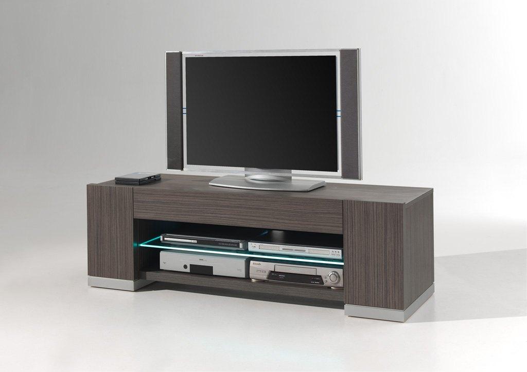 Meuble TV contemporain avec éclairage coloris linea Eclipse