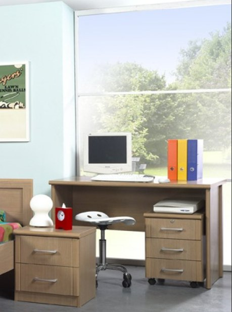 Bureau enfant contemporain coloris érable alaska Ellypse
