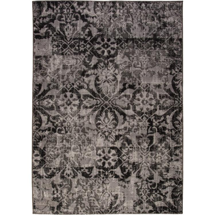 Tapis vintage gris rectangulaire intérieur et extérieur Duba