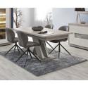 Table de salle à manger moderne chêne clair Romain