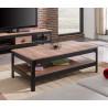 Table basse industrielle chêne/noir Dario