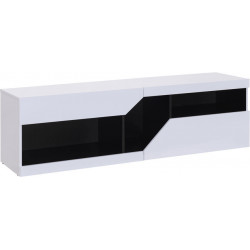 Meuble TV moderne noir et blanc Anouk