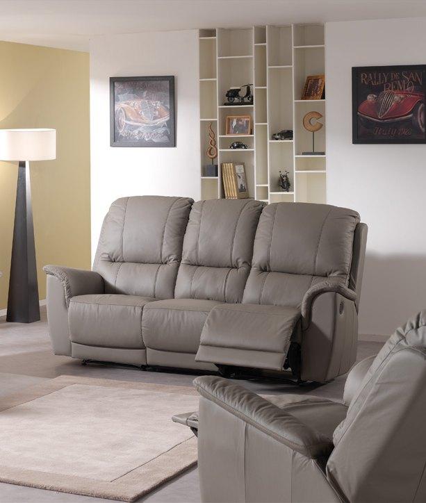 Canapé de relaxation 3 places cuir EPHESE