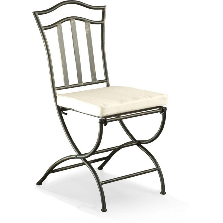 Chaise fer forgé de salle à manger (lot de 2) ARABESQUE