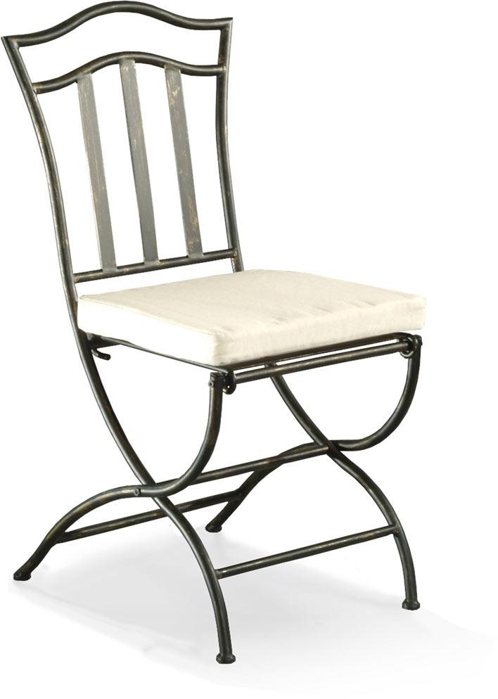 Chaise fer forgé de salle à manger (lot de 2) ARABESQUE