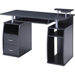 Bureau informatique moderne noir Enolane