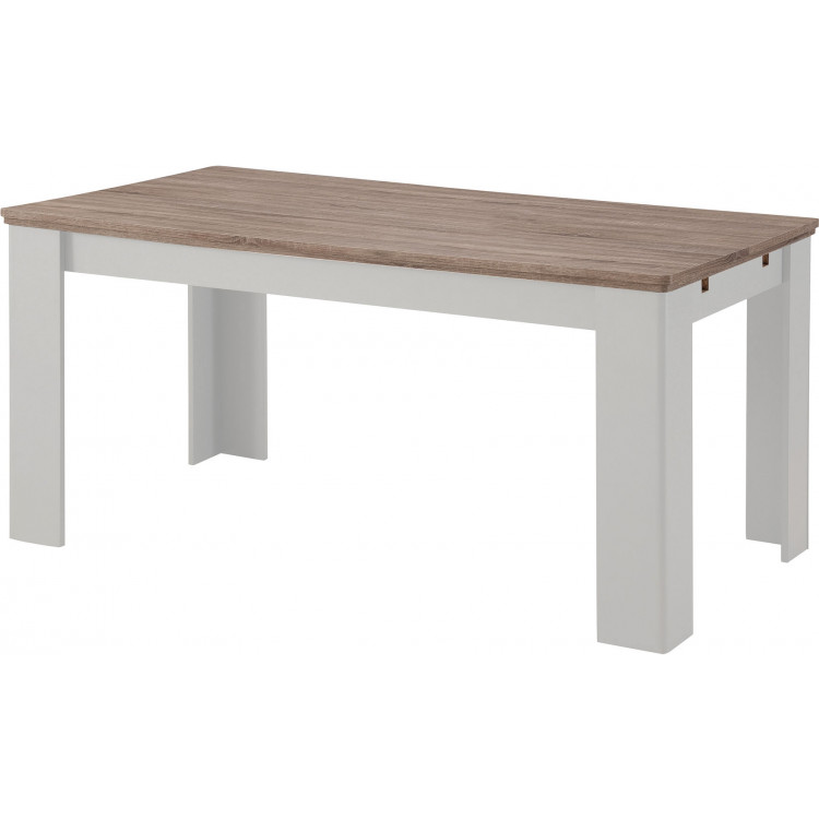 Table de salle à manger extensible style campagne Aksel