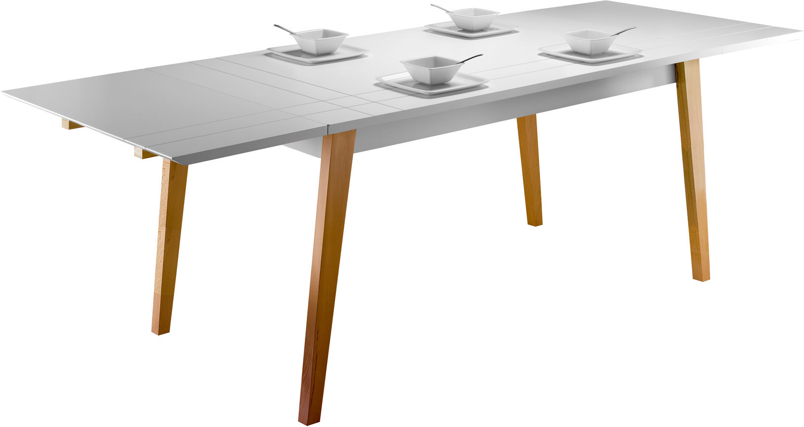 Table de salle à manger extensible scandinave Bristol