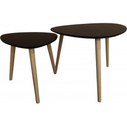 Tables basses scandinaves noires Esmeralda