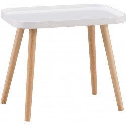 Table basse scandinave blanche Elyna