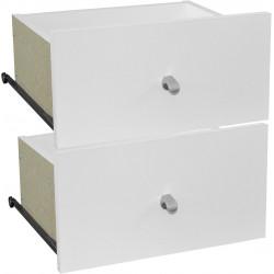 Lot de 2 tiroirs pour meuble de rangement modulable Mona