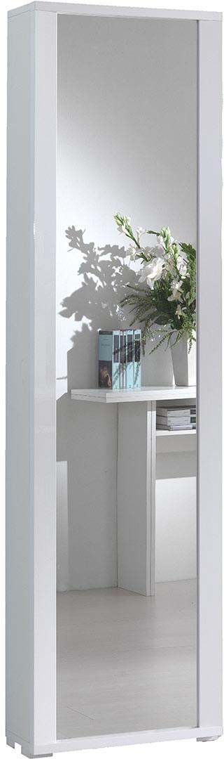 Armoire moderne en bois avec porte à miroir 7 étagères Kuopio