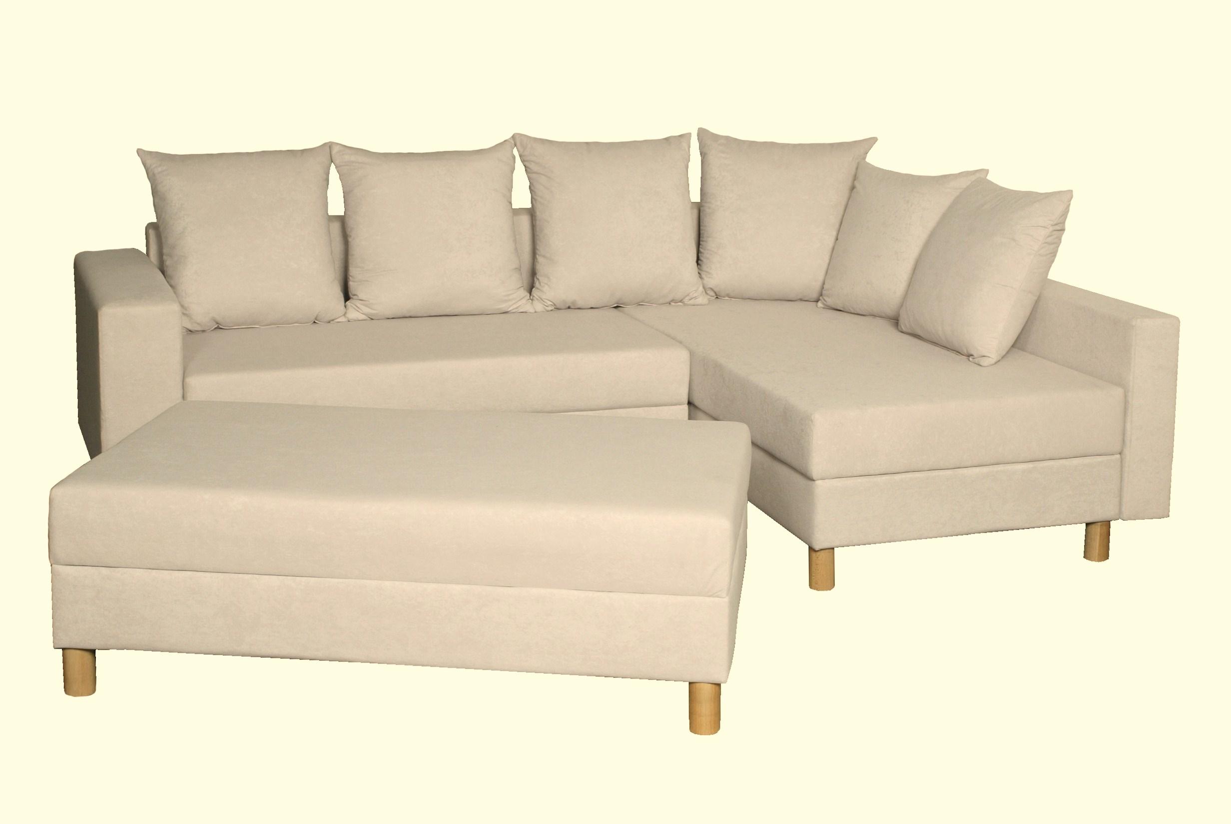 Canapé d'angle convertible réversible & pouf  DINO
