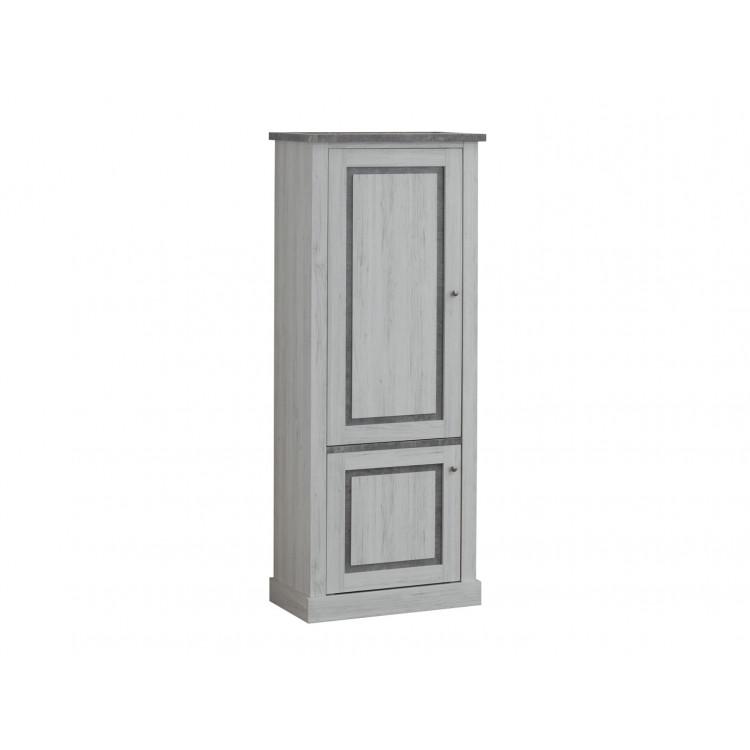 Colonne contemporaine chêne clair/gris béton Emmanuelle