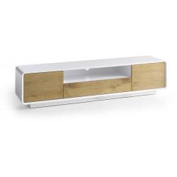 Meuble TV moderne chêne/blanc Jenaro