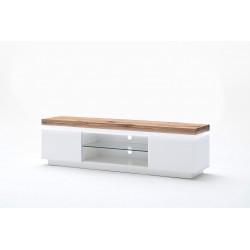 Meuble TV moderne blanc/chêne Jordy