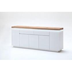 Buffet/bahut moderne 200 cm blanc/chêne Jordy