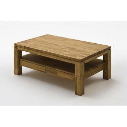 Table basse style nature chêne massif Sigrid