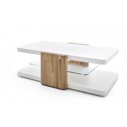 Table basse moderne blanc/chêne Cendrine