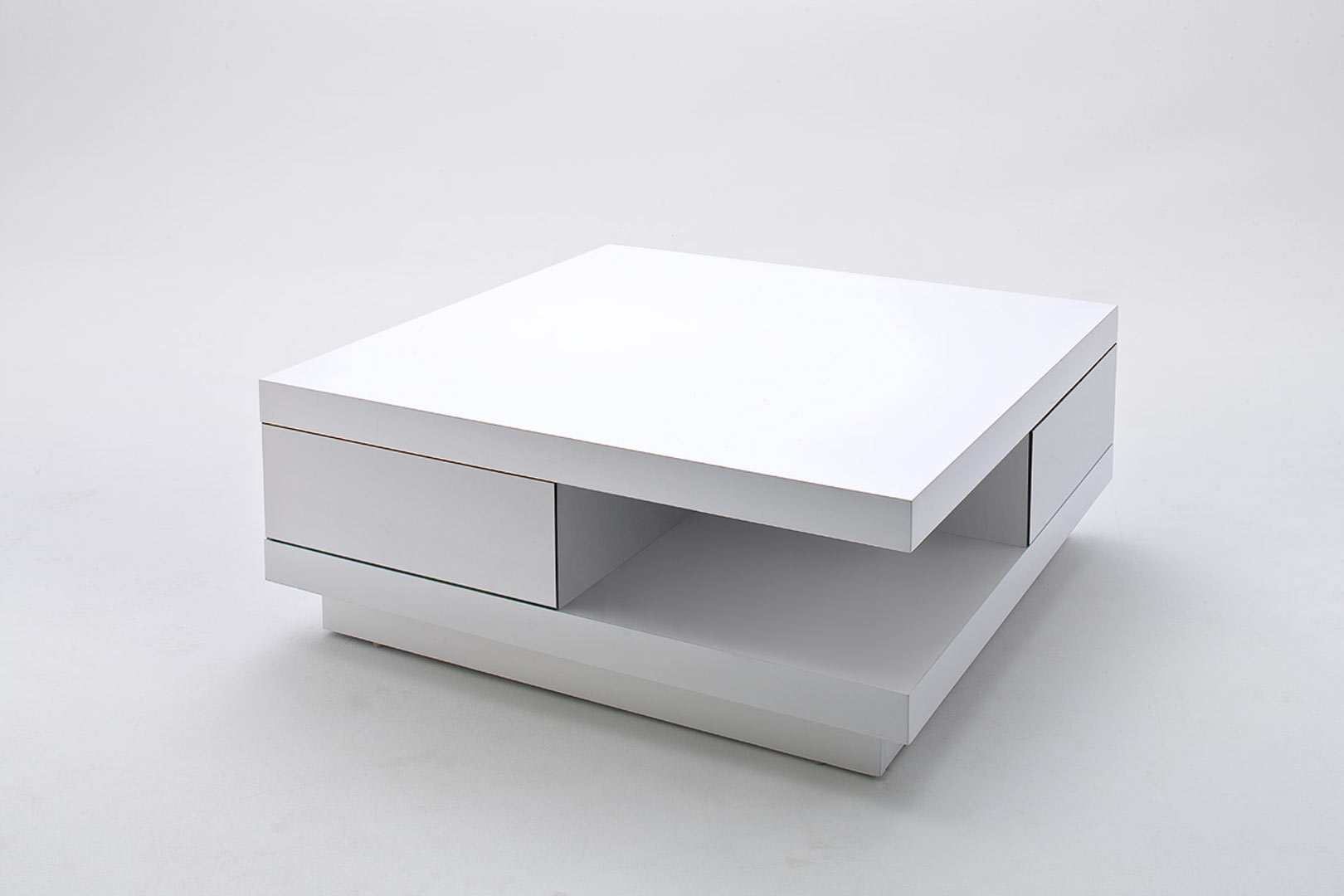 Table basse moderne laquée blanche Messaline