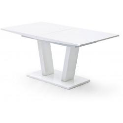 Table de salle à manger extensible moderne blanche Hakiro